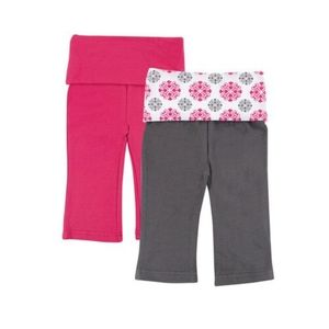 Other - Girls 3-6 mth YOGA sprout yoga pants lot set NEW